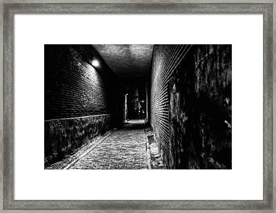 Scary Dark Alley Framed Print by Louis Dallara