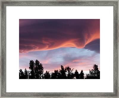 Scary Desert Sky Framed Print by Deborah Smolinske