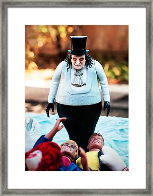 Scary Doll Framed Print by Bobbi Feasel
