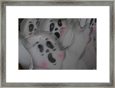 Scary Ghosts Framed Print