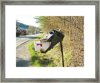 Framed Print featuring the photograph Scary Mailbox by Sherman Perry