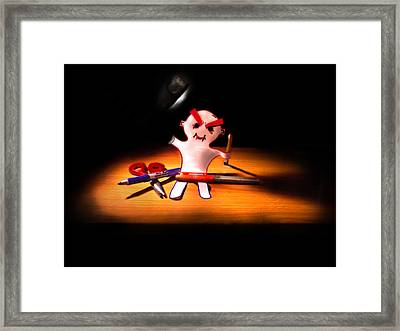 Scary Monster Man Framed Print by Aiden Kashi