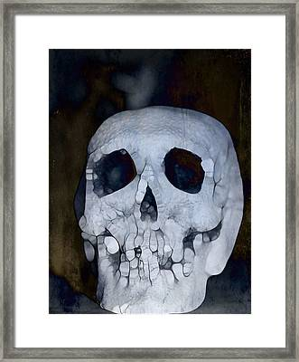 Scary Skull Framed Print by Dan Sproul
