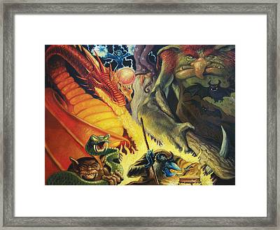 Scary Things Framed Print by Gregg Hinlicky