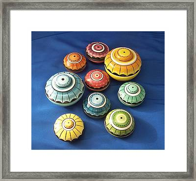 Scatoline Colorate Framed Print by Daniela Johnson
