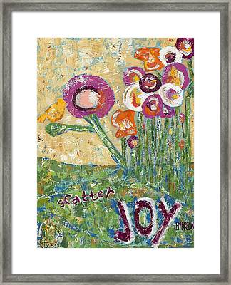 Scatter Joy Framed Print