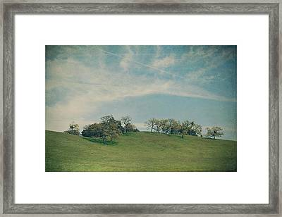 Scattered Along The Hilltop Framed Print by Laurie Search