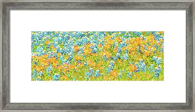 Scattered Impressions Bold Wildflowers  Framed Print by ARTography by Pamela Smale Williams