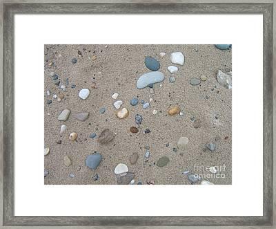 Scattered Pebbles Framed Print by Margaret McDermott