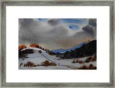 Scattered Sun Framed Print by Len Stomski