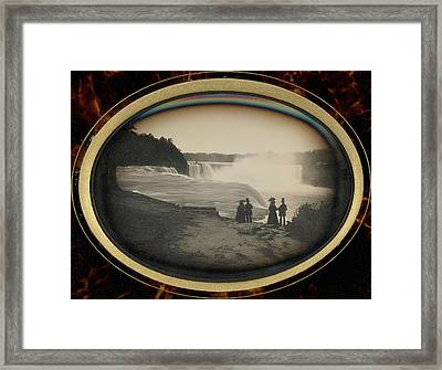 Scene At Niagara Falls Platt D. Babbitt Framed Print by Litz Collection