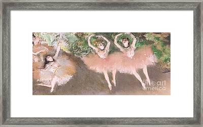 Scene De Ballet Framed Print by Edgar Degas