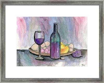 Scene From An Italian Restaurant Framed Print by Roz Abellera Art