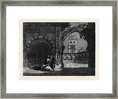 Scene From Balfes Opera Bianca The Bravos Bride At Covent Framed Print