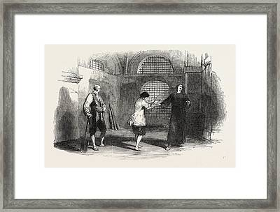 Scene From Beethovens Fidelio, At The Royal Italian Opera Framed Print