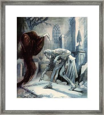 Scene From Charles Dickens Christmas Framed Print