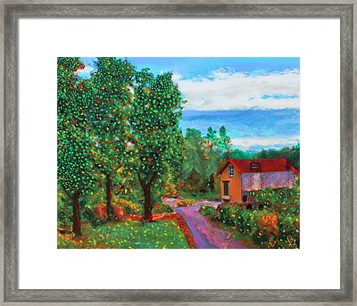 Scene From Giverny Framed Print