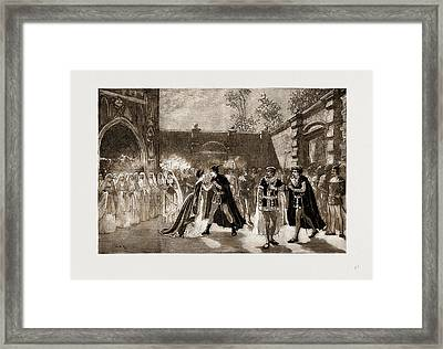 Scene From Il Trovatore At Covent Garden Theatre, London Framed Print by Litz Collection