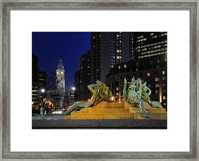 Scene From Logans Square. Framed Print