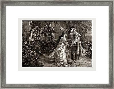 Scene From Mr. Mackenzies New Opera, The Troubadour Framed Print