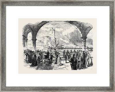 Scene From Othello At The Princess Theatre The Town Framed Print