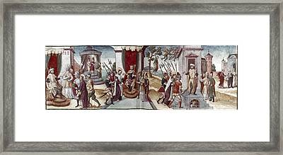 Scene From Play, 1547 Framed Print by Granger
