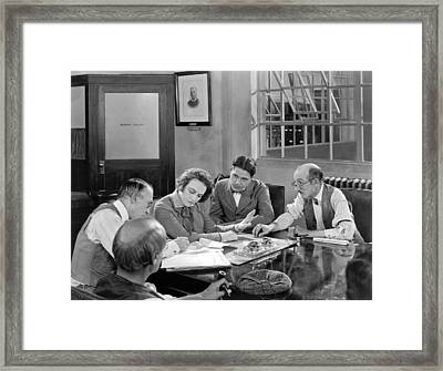 Scene From smouldering Fires Framed Print