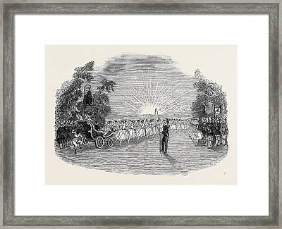 Scene From The Burlesque Of Aladdin Or The Wonderful Lamp Framed Print by English School