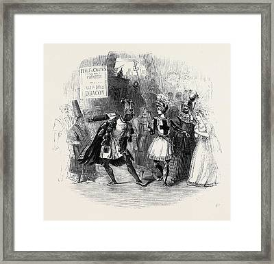Scene From The Burlesque Of St. George And The Dragon Framed Print by English School
