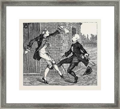Scene From The Heir-at-law At The Strand Theatre Framed Print