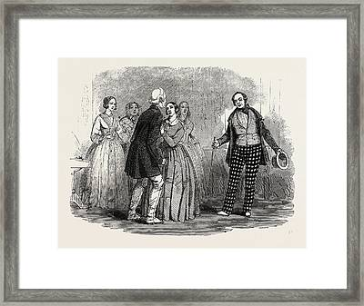 Scene From The New Comedy Of Look Before You Leap Or Framed Print by English School