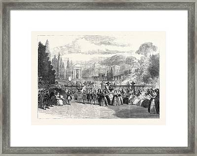 Scene From The New Opera Loves Triumph At Covent Garden 1862 Framed Print