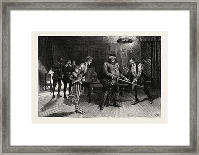 Scene From The Performance Of Henry Iv Framed Print