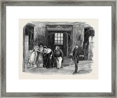 Scene From The Sheriff Of The County Framed Print