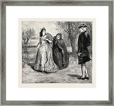 Scene From The Wandering Heir At The Queens Theatre Framed Print