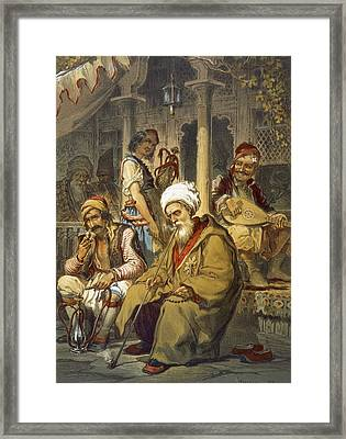 Scene In A Cafe, 1865 Framed Print