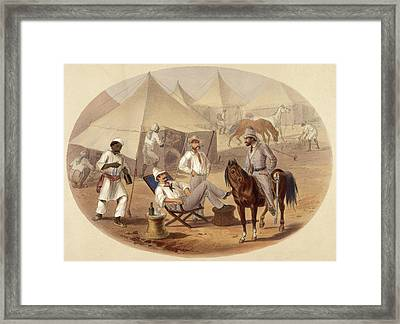 Scene In A Camp Framed Print by British Library