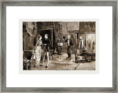 Scene In Act Iv. Of Young Folks Ways Framed Print