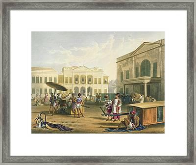 Scene In Bombay, From Volume I Framed Print