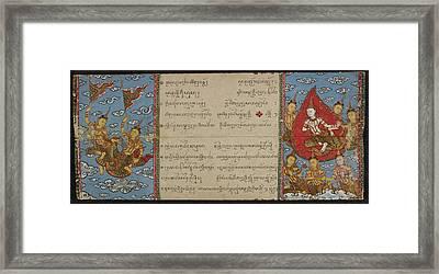 Scene In Buddhist Heaven Framed Print