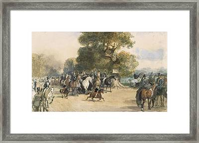 Scene In Hyde Park Framed Print
