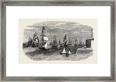 Scene In The Mersey On The Termination Of The Late Gale Framed Print by English School