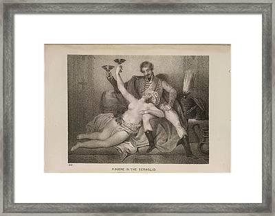 Scene In The Seraglio Framed Print by British Library