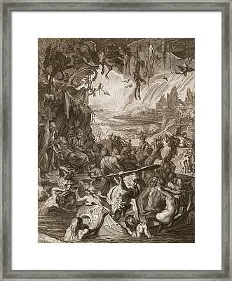 Scene Of Hell, 1731 Framed Print by Bernard Picart