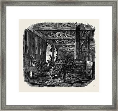 Scene Of The Recent Explosion At The Royal Engineer Framed Print
