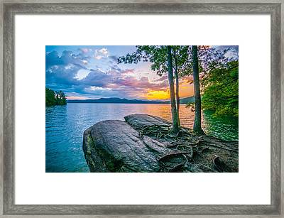Scenery Around Lake Jocasse Gorge Framed Print