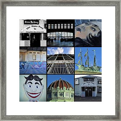 Scenes From Asbury Park New Jersey Collage Framed Print by Terry DeLuco