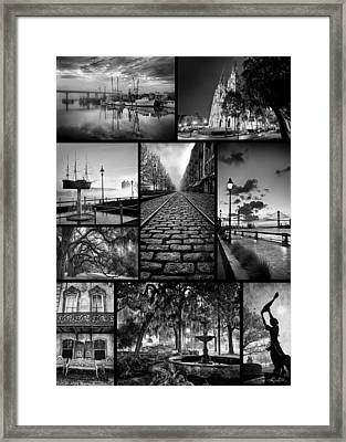 Scenes From Savannah Framed Print