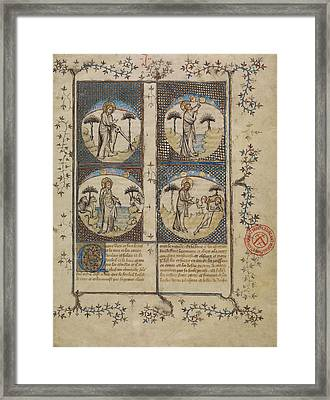 Scenes From The Creation First Master Of The Bible Framed Print