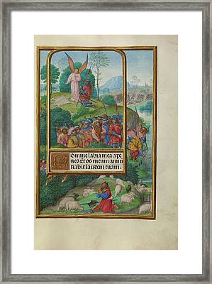 Scenes From The Life Of Gideon And Moses And The Burning Framed Print